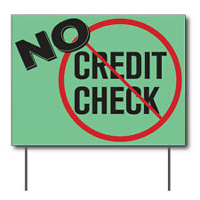 "No Credit Check Curbside Sign, 24""w x 18""h, Full Color Double Sided"