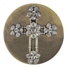 Ginger Snaps™ Brass Flower Stone Cross Sn03-23 Buy 4, Get 5Th $6.95 Snap Free