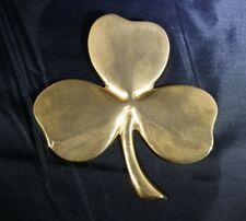 Lucky Irish Shamrock Paperweight Gerity St. Patrick'S Day Gold Electroplate