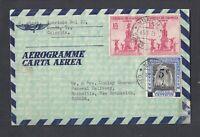 COLOMBIA 1959 AEROGRAMME AIRMAIL COVER HONDA TO SACKVILLE NEW BRUNSWICK CANADA