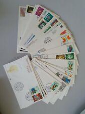 31 Stück Ersttagsbriefe (FDC) 1980 bis 1987 - Vereinte Nationen