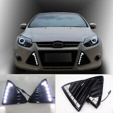 For Ford Focus LED Front Driving Daytime Running Light Fog Lamp DRL 2011-2014
