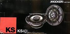 "NEW Kicker 11KS40 4"" 2-Way KS Series Coaxial Car Audio Speakers ONE PAIR KS40"