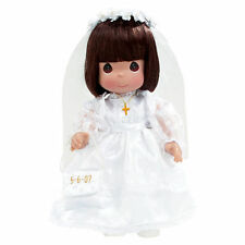 "Precious Moments 12"" Doll 1st Communion Brunette Personalizable + Gift Box New"