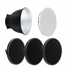 18cm Standard Lamp Shade Reflector Diffuser + Honeycomb for Bowens Mount Strobe
