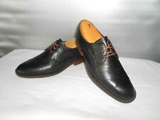 Men's Johnston & Murphy 1850 Dress Black Leather Plain Toe Oxfords Size 11 D