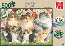 JUMBO JIGSAW PUZZLE CAT FAMILY FRANCIEN VAN WESTERING 500 PCS #18325