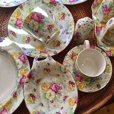 13 Pieces Of Lord Nelson Chintz Rose Time Stunning!
