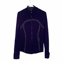 lululemon purple define yoga stretch symbol jacket size 8