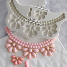 Beaded Swag Necklace Impression Silicone Fondant Mould Cake Topper Decor Tool 3D
