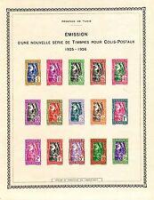 colonie française Tunisie épreuve collective de la série colis postaux cote:400€