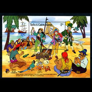 TURKS & CAICOS ISLANDS 1985 Disney Pirates. SG MS 882. Mint Never Hinged (BH718)