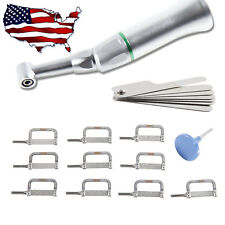 4:1 Reduction Dental Contra Angle IPR Handpiece +10*Interproximal Strips Kit Z0C