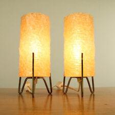 Paar Nachttisch Leuchten Kunststoff Raketen Lampen Messing Vintage 60er