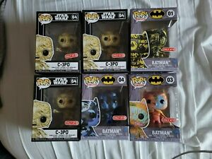 Funko Batman Dark Blue Artist Series Lot Vinyl Figure Target Exclusive, lot of 6