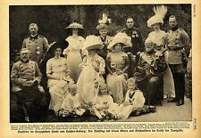 Tauffeier (Prinzessin Karoline Mathilde) im Herzogl.Hause Sachsen-Koburg c.1912