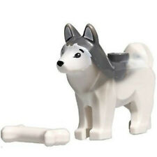 NEW LEGO HUSKY MINIFIG dog animal figure minifig minifigure bone 40124 60097 toy