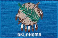 "Oklahoma State Flag Iron On Patch 3 1/2"""