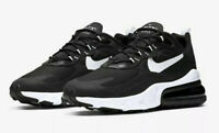 Men's Nike Air Max 270 React Running Shoes Black/White AO4971 004 Size 10, 11.5