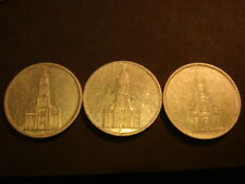 Germany WWII 5 Mark 3 DIFF Silver Coin s 1934 - A,D,F 3rd Reich XF?? SWASTIKA