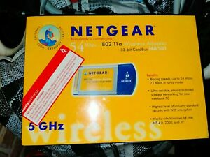 netgear wireless cardbus adapter 802.11a NEW