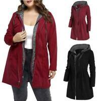 Plus Size Women's Warm Coat Jacket Outwear Trench Winter Hooded Parka 6XL Tops D