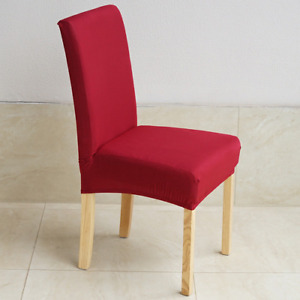 Chair Covers Solid Color Desk Seat Protector Seat Slipcovers for Banquet Wedding