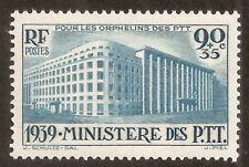 N° 424 Ministère des PTT 1939,neuf ** superbe cote 50€,proposé à 20% de la cote