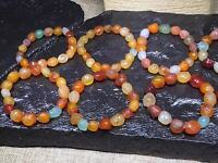 Natural Gobi Multi-Color Alashan Agate/stone Bracelet,Suiseki-viewing Collection