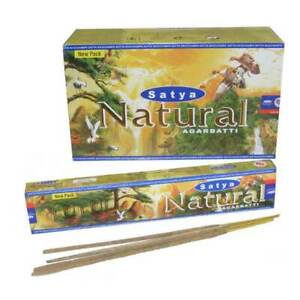 Bulk Buy 3/12 Pack Box 15g Satya Natural Nag Champa Incense Joss Sticks