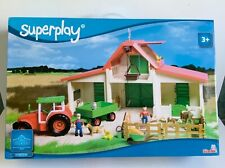 More details for simba superplay farm & tractor playset 104353728 barn animals farmer tools toy