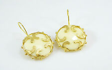 Ottomangems semi preciosas pendientes de piedras preciosas oro étnico Jade Turco Hecho a Mano