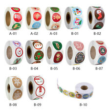 2020 NEW Merry Christmas Thank You Stickers Labels Gift 2.5/3.8CM 500Pcs Roll UK