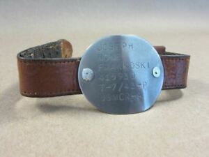 Vintage World War II USMC Reserve Dog Tag Bracelet WW2