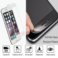Completo curvo Blanco De Fibra De Vidrio Templado Protector De Pantalla Para APPLE IPHONE 7 Plus