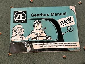 ZF Gearbox Manual, Genuine Original. In Used Condition