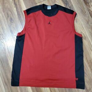 Nike Air Jordan MENS LARGE Tank Top Sleeveless Jumpman Basketball Red Black