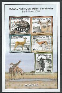 Botswana 2018 Fauna, Animals MNH sheet