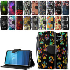 """For Samsung Galaxy S10 G973 6.1"""" ID Card Flip Wallet Kickstand Cover Pouch Case"""