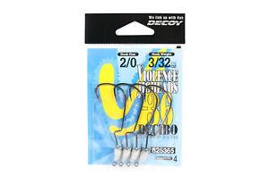 Decoy VJ-36 Jig Head Decibo Worm Hook Jig Head Size 2/0 , 3/32 oz (5365)