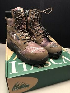 Mens Itasca Big Buck Leather And Camo Boots Waterproof Thinsulate Size 11.5