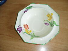 Midwinter porcelon Burslem Tulip pattern art deco era hexagonal cereal bowl vgc