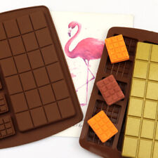 Square Chocolate Mould Bar Block Slab Silicone Cake Candy Sugar Decoration Mold