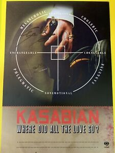 Kasabian Where Did All The Love Go Signed A4 Print
