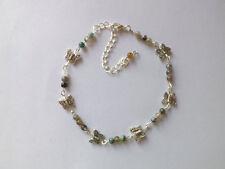 Indian Agate Gemstones Butterfly Anklet Ankle Bracelet