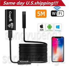 5m 8LED WIFI Waterproof Endoscope Borescope Inspection Camera for Andriod iPhone