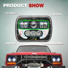 1pcs 7x6'' 120W CREE LED Headlight For 86-95 Jeep Wrangler YJ 84-01 Cherokee XJ