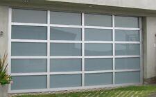 Full View [18' x 8'] Anodized Aluminum & White Laminate Glass Garage Door
