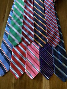 Lot of 9 Brooks Brothers Ties Stripe
