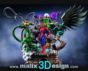 Spider-Man Sinister Six 3D PRINTED Unpainted/Unassembled Garage Kit 12in/30cm